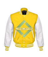 American Unisex White Real Leather Sleeves Letterman College Varsity Woo... - $86.13+