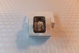 14K GOLD RING LARGE SMOKY QUARTZ RING VINTAGE ESTATE PIECE NOT SCRAP - $495.00