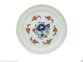 """10"""" Marble Plate Serving Marquetry Mosaic Malachite Inlay Special Decor ... - $104.20"""