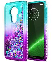 For Motorola Moto G7 Play Luxury Liquid Glitter Bling Shockproof Cover Case - $11.40