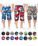 Men's Multi Pocket Tactical Military Army Camo Camouflage Cargo Shorts W... - $25.73+