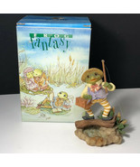 WESTLAND GIFTWARE FROG FANTASY FIGURINE statue nib box Gone Fishing 3527... - £19.93 GBP