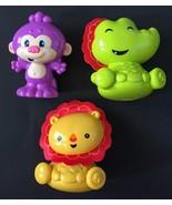 Fisher Price Laugh And Learn Rattle Purple Monkey Green Dragon Yellow Li... - $12.86