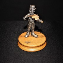 Ron Lee Fine Pewter Clown Figurine Playing the Fiddler / Hobo Band Colle... - $23.00
