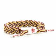 Rastaclat Heatle Red/Gold/White Shoelace Bracelet RC001SBGGD NEW