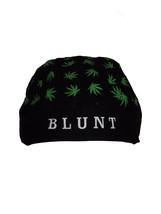 Blunt Weed Leaf Marijuana Pot Black Do Rag Doo Rag Skull Cap Head Wrap