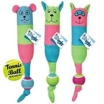 Tennis Triplet Dog Toy Sporty Fleece Tug Fetch Toys Chipmunk Raccoon or Squirrel