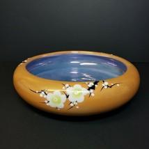 Vintage Peach Lusterware Console Bowl Cherry Blossom Porcelain - $24.99