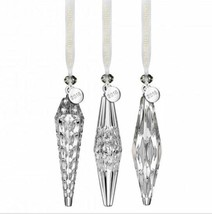 WATERFORD Icicle Ornament Set of 3 CHRISTMAS ORNAMENTS #40031796 - $167.31