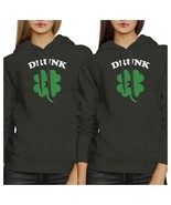 Drunk1 Drunk2 Best Friend Matching Hoodies Gift For St Patricks Day - $50.99+