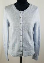 Ann Taylor LOFT women medium light blue cardigan sweater mohair blend - $34.75