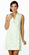 Lilly Pulitzer Adeline Resort White Grass Happy Floral Print Shift Dress 0 - $117.00