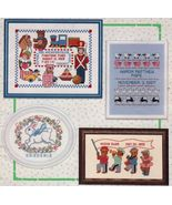 Cross Stitch Toyland Bunny Guardian Angels New Baby Birth Samplers Patte... - $13.99