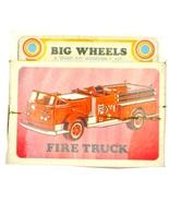 1971 Big Wheels Lindberg Fire Truck Mint in Box  - $21.95