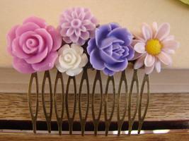 Pink Bridesmaids Bridal Wedding Hair Comb Maid ... - $4.98