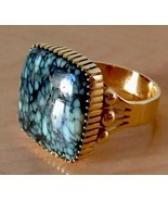 RaRE Men's 14k gold SIGNED Navajo really BIG !! Turquoise Male Power Ring - $3,078.00