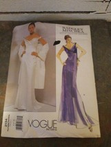 Vogue 2134 Badgley Mischka Pattern Evening Dress & Shawl Sizes 6, 8, 10 Uncut  - $9.89