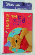NEW 8PC WINNIE THE POOH THANK YOU NOTES WITH ENVELOPES - $6.44