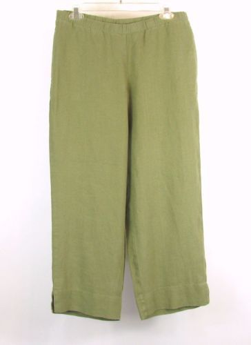 J. JILL Size S NEW Linen Pull-On Capris Cropped Pants