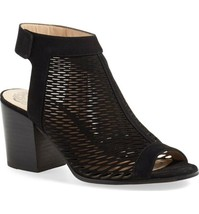 Vince Camuto Lavette Perforated Peep Toe Bootie- Sz 8 M - $40.75