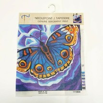 Needlepoint Canvas Butterfly Cotton Serigraphy Print 15.7x15.7 Half Cros... - $20.95