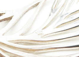 VEVA 925 Sterling Silver - Vintage Open Leaf Designed Wide Cuff Bracelet - B6316 image 4