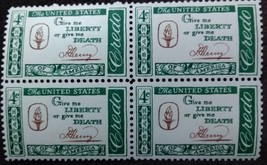Four MNH 1961 U.S. Postage Stamps American Credo: Patrick Henry - $1.49