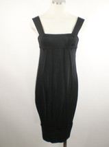 Diane Von Furstenberg Black Pleated Bubble Dress Sz 2 - $33.65