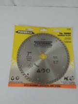 "Performax  7 "" Turbo Diamond Blade Wet & Dry Cutting Masonry, Concrete, ... - $9.49"