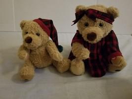 2000 Avon Christmas Bedtime Tales Mama & Baby Bear Duet Plush Talking/Si... - $20.76
