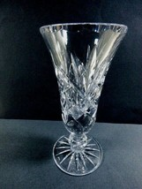 "Vintage cut Clear Crystal bud vase design 6"" - $27.72"