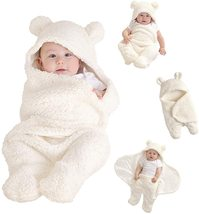 %100 Cotton Newborn Baby Sleeping Wrap Swaddle Plush Boys Girls Cute Bla... - $17.00