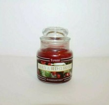 Yankee Candle Holly & Red Currant Black Label Band 3.7 Oz. Small Jar Ret... - $15.83