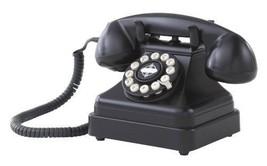 Vintage Desk Phone Retro Push Button Technology Classic Black Telephone ... - $61.99