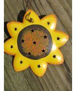 OR321 - Tin Sunflower Metal Christmas Ornament  - $1.95