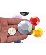 45mm Crystal AB H702 Large Acrylic Rhinestones , Lead Free. Pro Grade - ... - $9.16