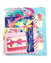 "Gemstone 10 Piece Colorful Gift Wrap Bag & Accessory Set ""Happy Birthday"" - $14.21"