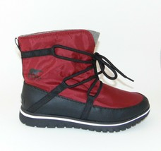 SOREL Cozy Explorer Nylon Boots Red Element sz 41/9.5 - 10 New - $57.39