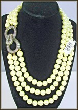 "HEIDI DAUS ""FASCINATING FASCINATOR"" 3-STRAND BEADED NECKLACE - RETAIL $1... - $109.99"