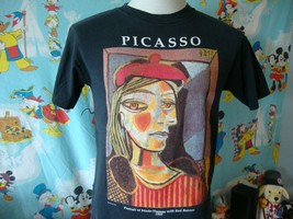 Vintage 90's Pablo Picasso Portrait Of Marie T Shirt M  - $329.67