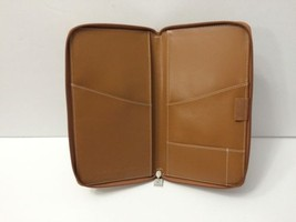 Peugeot Open Europe Travel Document Organizer Faux Leather Folio Camel - £18.77 GBP