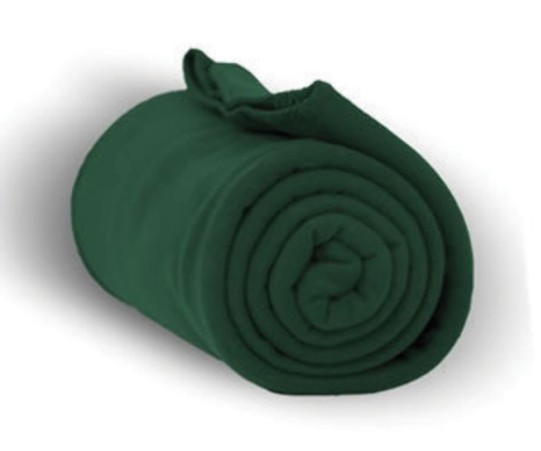 "Case of [24] Heavy Weight Fleece Blanket Throw - 50"" x 60""-Forest"