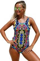 Moroccan Dreams Tribal Print One Piece Swimsuit  - $20.46