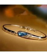 Fashion Silver Color Crystal Chain Bracelet Women Charm Cuff Bangle New ... - $0.99