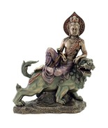 "MANJUSHRI ON LION STATUE 10"" Buddha of Transcendent Wisdom HIGH QUALITY ... - $94.95"