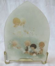 Vtg Precious Moments Stained Glass Effect Jesus is Born Candle Holder Ra... - $25.00
