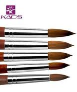 KADS 100% Kolinsky Sable Acrylic Nail Art Brush Red Wood Pen Nail Brush ... - $132.35