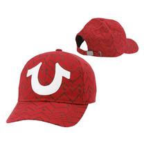 True Religion Men's Chevron Horseshoe Logo Baseball Cap Sports Strapback