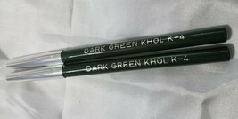 Jordana Kohl Dark Green k-4 EyeLiner Pencil Lot Of 2 - $9.89