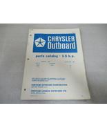 PM168 Chrysler Outboard 3.5 HP Parts Catalog Manual P/N OB 1016 - $6.06